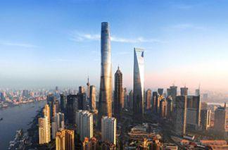 Шанхайская башня в Китае, уникальная достопримечательность