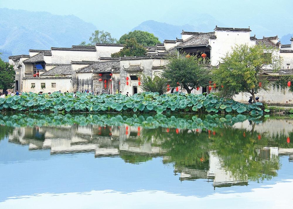 Деревня Хунцунь в Хуаншане