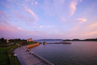 Озеро Дунтинху в Китае