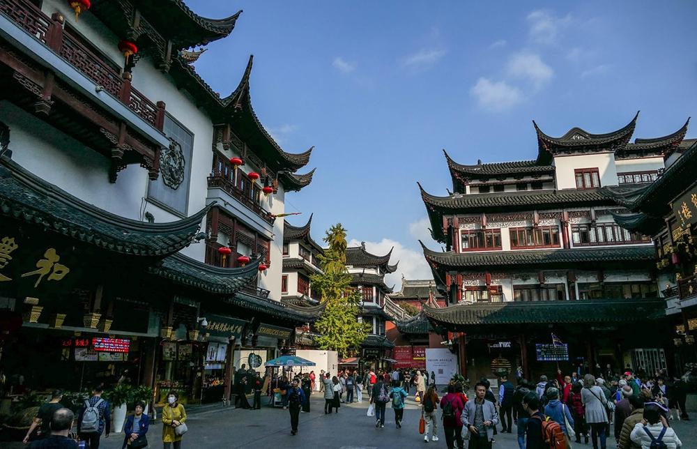 Район старого города в Шанхае