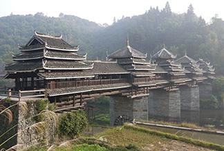 Ченьян - Мост Дождя и Ветра в Китае