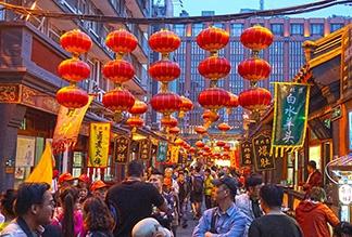 Вечерний рынок Ванфуцзин в Пекине