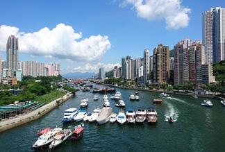 Рыбацкая деревня Абердин в Гонконге