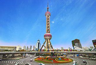 Башня Восточная жемчужина в Шанхае